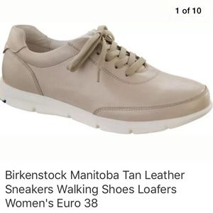 Birkenstock Manitoba Tan Leather Sneakers Shoes
